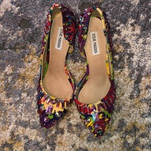 "Colorful Steve Madden Jeweled Heels ""Galactik"""